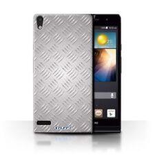 Étuis, housses et coques argentés en métal pour téléphone mobile et assistant personnel (PDA) Huawei