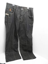 Eight 732 Black Denim Jeans With Hidden Pocket Men's Size 40X34 - VGC