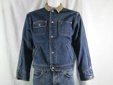Polo Ralph Lauren Authentic Dungarees Men's Blue Jean Denim Jacket Size Large