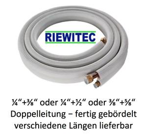 """Kältemittelleitung 1/4+3/8"""", 1/4+1/2"""", 3/8+5/8"""", diverse Längen und gebördelt!"""