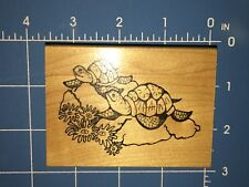 TURTLE TURTLES TORTOISES Great Impressions G335 Wood Mounted Rubber Stamp