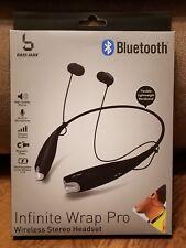 (BLACK) Bluetooth Wireless Headset Stereo Headphone Earphone  Universal Handfree