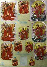 3D Dufex Paper Tole Decoupage Sheet Stunning Oriental Lady Pyramex Foil