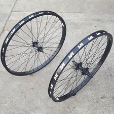 "REVENGE 26"" CASSETTE 10T WHEEL SET RHD DOUBLE WALL RIMS BLACK BMX CRUISER WHEELS"