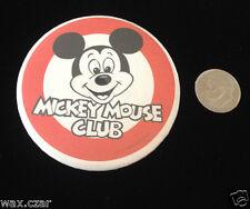 Mickey Mouse Club Red/White Vintage Retro Metal Pin Pinback Button Badge Disney