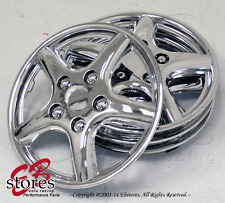 "15"" Inches Chrome Hubcap Style#028B- 4pc Set of 15 inch Wheel Skin Cover Hub cap"