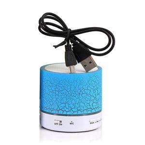 UNIVERSAL Mini Wireless Bluetooth Speaker LED Light Portable Stereo Bass Speaker