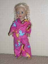 "Princess/Dark Pink Pajamas for 18"" Doll Clothes American Girl"