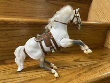 1996 Empire Grand Champions Toy Horse Sound Action Stallion White Thoroughbred