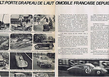 PUBLICITE ADVERTISING 084 1964 RENAULT porte drapeau depuis  60ans (2 pages)