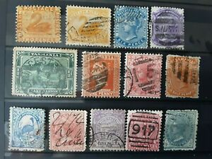 Australia states stamps used no checked