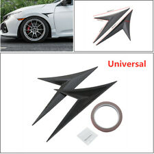 2x Carbon Fiber Sport Style Fake Decorative Hood Intake Scoop Sticker for Car
