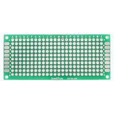 5x Doble Cara PCB Universal Printed Breadboard Circuit Board Prototype 3x7cm FR4