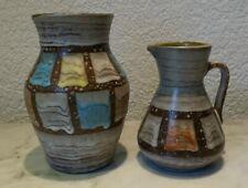 VASE et PICHET keramikvase keramikkrug West Germany années 70er Old Pottery