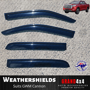 Premium Weathershields Tinted Window Visors for GWM Cannon 2019-2021 Great Wall