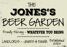 More details for personalised pub garden wall landlord bar metal sign plaque alcohol beer garage
