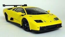 Hot Wheels 1/18 Scale - 53835 Lamborghini Diablo GTR Yellow Diecast Model Car