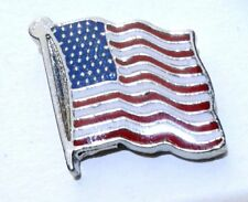 1 Lapel Pin Usa American Flag Hat Badge for Suits Men Women Set Holder Us plated