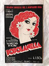 SPARTITO MUSICALE POPOLANELLA MARTELLI MARCHIONNE RUCCIONE ED. CARISCH 1934