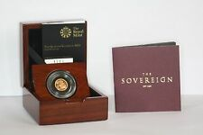 2015 Queen Elizabeth II Gold Proof Quarter Sovereign + COA