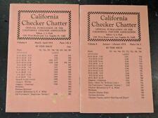 California Checker Chatter 1955 Vol.6 1-4 Vol.8,10-12 Vol.10 1-3Issues L.L.Hall