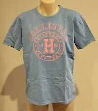 Abercrombie & Fitch HOLLISTER T-SHIRT Womens Blue Logo Tee Top Size S NWT