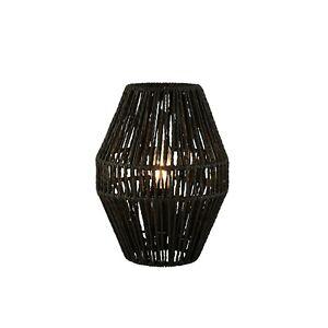 Black Rattan 7W LED Light Table Lamp H28.5cm RRP £35