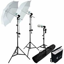 Studio Photography Portrait Lights 600W Umbrella Lighting Kit Supports YouTube