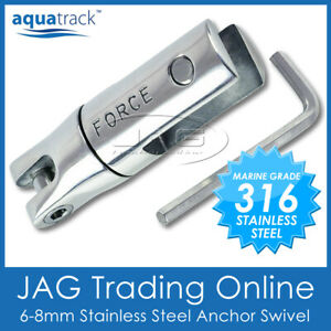 316 MARINE STAINLESS STEEL BOAT ANCHOR SWIVEL CONNECTOR - SUITS 6-8MM CHAIN