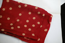 CHIFFON LAND GIRL HEADBAND HEAD SCARF RED  POLKA DOTS 1940s 1950s