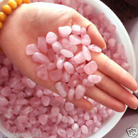 50G Natural Pink Rose Quartz Crystal Mini Stone Rock Chips Specimens Healing