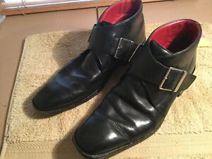 Mens Chelsea Boots By Kenneth Cole Black Leather Size Uk 9.5 Used