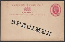 BAHAMAS, 1881. Post Card H&G 5, Specimen