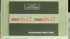 libretto uso e manutenzione per Moto Guzzi NTX