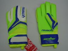 Reusch Soccer Goalie Gloves Serathor SG Extra #3770835S SZ 9 Blue&Lime SAMPLES