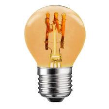 LED Spiral Filament Tropfen 3W E27 Gold klar extra warmweiß 2200K Retro DIMMBAR