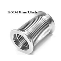 ISO63 150mm 5.9'' Bellows Hose Stainless Steel 304 Flange Flexible Vacuum Tube