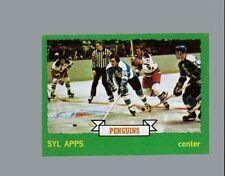 1973 - 74 Topps Hockey Set SYL APPS Card - PENGUINS
