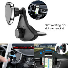 360° Rotating CD Slot Car Mount Holder Stand Magnetic For Cell Phone Accessories