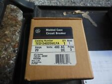 GE TED 134020WLFA molded case circuit breaker model 1