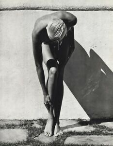 1987 Herb Ritts Vintage Nude Brigitte Nielsen Actress Model Photo Gravure 16x20