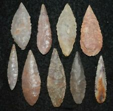 9 Sahara Neolithic ovate blades/projectile points