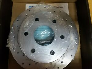 Disc Brake Rotors - Big Bite Cross Drilled and Slotted - Left & Right Front Set