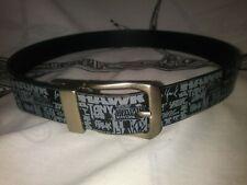 "Tony Hawk Logo Skaters Belt Black  Sz M / 26 Reversable 1 1/8"" Wide VGUC Street"