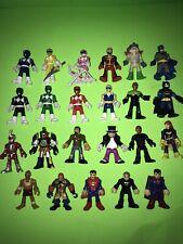 DC COMICS Imaginext Power Rangers, VILLAINS, Etc... LOT of 23 Figures