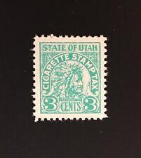 Utah State Revenue - 3 cents blue-green Cigarette Tax Stamp #C36 MNH - UT