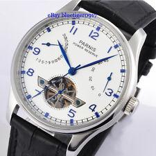 Parnis 43mm Seagull Power Reserve Movement Tourbillon Men's Gent Automatic Watch