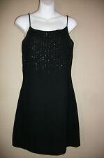 Rampage Size 7 Black Spagetti Strap Sheath Dress Sparkle Fabric on Chest