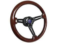1984 - 2004 Ford Mustang Mahogany Wood Steering Wheel Kit | Blue Pony Emblem