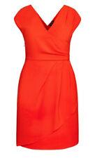 City Chic XS 14 Dress Classic Wrap Sunkist